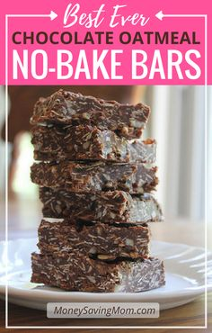 No bake chocolate oatmeal bars  However, the other day, my friend Angie asked me if I'd tried it yet. When I told her that I hadn't, she told me that I must, must try it as soon as possible.