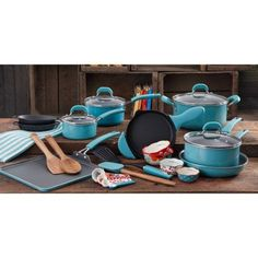 Walmart $89 down from $200: The Pioneer Woman Vintage Cookware Combo Set, 27-Piece