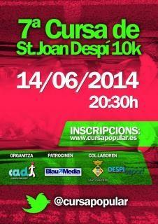 Cursa Sant Joan Despí el proper 14.06.2014 Apunta't!!