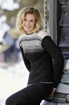 Tema 15: Modell 38 Setesdal med ribb #strikk #klassiker Ski Sweater, Fall Sweaters, Girls Sweaters, Sweater Jacket, Sweaters For Women, Knitting Wool, Wool Yarn, Hand Knitting, Knitting Patterns