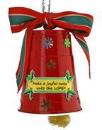 """Pre print lables with messages and bible verses... Sunday School """"Make a Joyful Noise"""" Christmas Bell Bible Craft"""