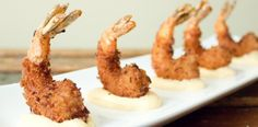 Craving Thai food right now! Crispy coconut shrimp with Thai mayo for dipping.