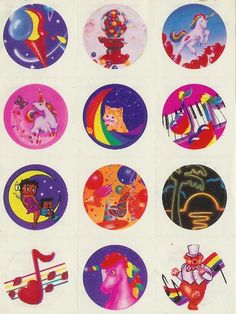 Lisa Frank stickers on everything!