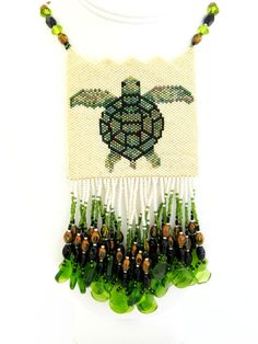 Sea Turtle Beaded Amulet Necklace