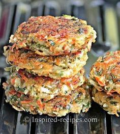 Inspired Recipes: Homemade Hash Browns with Spinach and Carrots don't waste time forming into patties just line the bottom of the pan