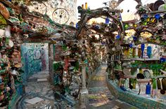 Isaiah Zagar of Philadelphia's Magic Garden...an artist's eye turns trash into beauty!