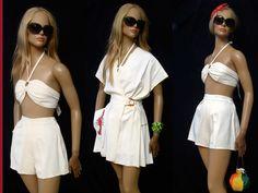 Vintage 1940's Lynn Lester Lobster Dress Shorts Bandeau Top Surreal Couture | eBay
