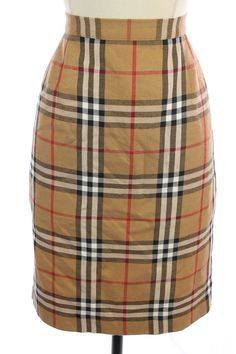 HILARY CHARLES Beige Red WOOL PLAID Knee Length PENCIL Straight Dress SKIRT M 8 #HilaryCharles #StraightPencil#FallFASHION #FallFashion2014 #FashionTrends #WomensStyletips  #WorkWear #StyleClothes http://www.ebay.com/itm/381051556375