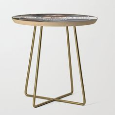 "From sideshow to show-stopper, our side tables will be a stunning modern accent to your space. Selecting from our wide array of artist's designs printed with a satin finish on birch wood, you'll take any room from zero to a hundred. Available in a square or round table top, and black or gold leg colors. - Square: 19"" x 19"" x 19"" (H) - Round: 19"" (diameter) x 19"" (H) - Baltic birch table top with beveled edge - High quality print with sat... Black Side Table, Round Table Top, White Side Tables, End Tables, Saarloos, Sideshow, Baltic Birch, Satin Finish, Mid-century Modern"
