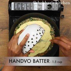 handvo recipe | how to make gujarati handvo recipe | mixed dal handvo Flour Recipes, Cake Recipes, Indian Food Recipes, Gourmet Recipes, Yogurt Curry, Dhokla Recipe, Vegetable Cake, Gratin Dish, Food Carving