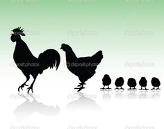 Image detail for -Chicken family silhouettes | Stock Photo © Dragan Milenkovic #6367698