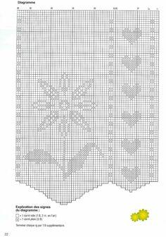 tenda filet margherite cuoricini (2) - magiedifilo.it punto croce uncinetto schemi gratis hobby creativi