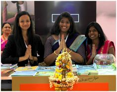 """' Atithi Devo Bhava"""" ; Welcome to India, Incredible India. Welcoming girls for the Pavilion of Indian , at Arabian Travel Mart 2016' Dubai."""