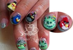 angry birds is def a fave... but i dont know if i could do my nails like this for everyday.