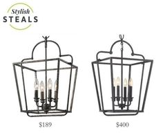 FREE SHIPPING. The Elegant Open Cage Lantern in Blackened Silver by is an awesome HGTV Fixer Upper lantern look for less. Purchase this transitional light for your kitchen, hallway or foyer lighting today at lightingconnection.com. Millennium Lighting 3232AS
