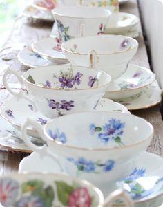 Flowery teacups