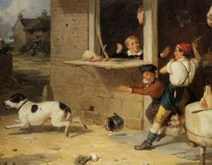 Boys will be Boys - 1845 to 1865 Painting by Thomas Webster.