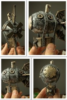 Steampunk Airship ornament pattern, $2.99 for the download, link goes to the free video tutorial.