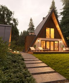 The affordable A-Frame house has been reimagined in an absolutely beautiful way by Avrame! The affordable A-Frame house has been reimagined in an absolutely beautiful way by Avrame!