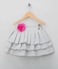 Take a look at this Gray Eleonaure Tier Skirt - Toddler by La faute à Voltaire on #zulily today!