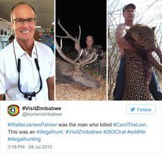 Walter Palmer, le dentiste qui a tué Cecil le lion obligé de fermer son cabinet - http://www.2tout2rien.fr/walter-palmer-le-dentiste-qui-a-tue-cecil-le-lion-oblige-de-fermer-son-cabinet/