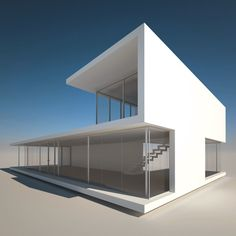 realistic modern house 1 3d model
