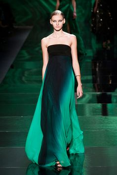 Monique Lhuillier Fall 2013- the way the fabric flows and the color- just smashing!