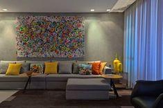 sala cinza e combinações de cores