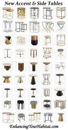 Huge amount of accent & side tables.