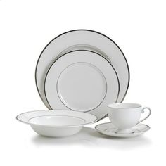 Mikasa Cameo Platinum 5-Piece Dinneware Set, Service for 1