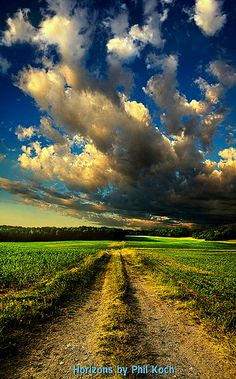 Dirt Road- love the sky!!
