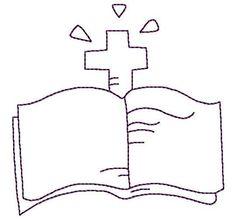 Christian Motif - Bible Redwork 4 Sizes - via @Craftsy