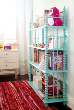 Design Tip: Kid Design Doesn't Have to Be Super Expensive- love this for a book shelf!