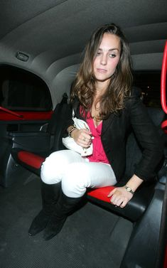 Dated May 30 2007. Kate Middleton pictured leaving Boujis Night Club with what seem to be cuts to her tips of her fingers and a plaster over her knolls as she get into a waiting London Cab.