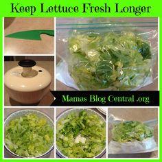 Keep lettuce fresh longer