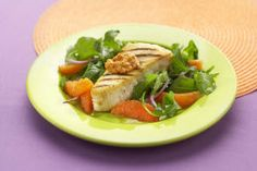 This is one delicious dish! Grilled Halibut with Sunkist Cara Cara Navel Orange and Walnut Romesco uses a classic sauce hailing from Spain. While usually Romesco is made up of finely ground tomatoes, peppers, garlic, almonds and olive oil in this version, Sunkist cara cara navel oranges are the star.