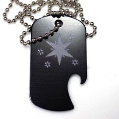 "MLP Twilight Black Pendant With 30"" Chain Dog Tag Aluminum Bottle Opener EDG-0228"