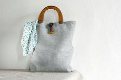 #TheColourLab woman bag, light grey, summer bag