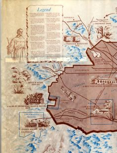 Historical Map of the San Fernando Valley (left side) :: San Fernando Valley History