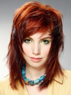 Shag haircut. Love the cut and the color