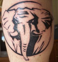 Elephant tattoo tribal for men