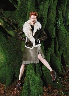 Tilda Swinton: Pringle of Scotland Fall/Winter 2010 Campaign