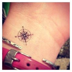 #tattoo Featuring the Small Compass tattoo from our Etsy Shop... ❤ liked on Polyvore featuring accessories and body art