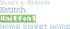 Free stitched fonts | How About Orange