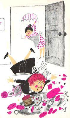 This is the House Where Jack Lives Joan Heilbroner ~ pics by Aliki ~ Harper & Row, 1962 Happy Monday gang. People Illustration, Children's Book Illustration, Book Illustrations, Vintage Children's Books, Vintage Kids, Fairytale Art, Sketchbook Inspiration, Retro Art, Childrens Books