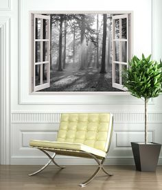 """Click Visit link to read more - Wall Decals: The Perfect """"Stick-on"""" Design. Wall Stickers Window, Bathroom Wall Stickers, Window Mural, Bedroom Themes, Bedroom Decor, Ceiling Design, Textured Walls, Wall Murals, Outdoor Furniture Sets"""