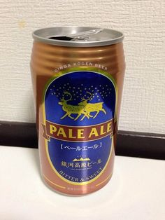 GINGA KOGEN BEER PALE ALE Bitter and Sweet 100% Beer empty can 350ml