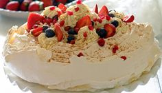 Summer Fruit Pavlova with Spiced Whisky and Honey Cream