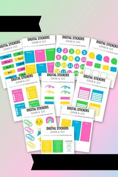 Online teaching has turned teacher organization upside down! Here's a set of over 300 digital stickers designed to help you save time and find what you need! Ready to get organized? #digitalstickers #organization #teacherorganization