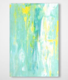 Stretched Canvas Art 120cm x 80cm GREEN ABSTRACT 1 Painting Print Ready to Hang